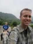Ross family horse-ride