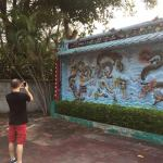 Garret enjoying Haw Par Villa