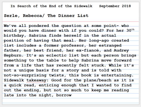 The Dinnner List