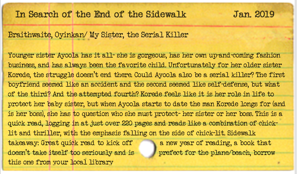 my sister the serial killer